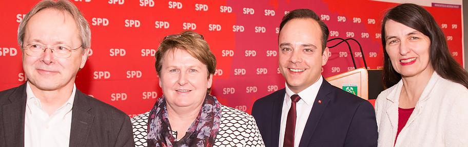 Die Kandidaten der SPD im Celler Land zur Bundes- und Landtagswahl: Kirsten Lühmann MdB, Maximilian Schmidt MdL und Dr. Jörg Rodenwaldt