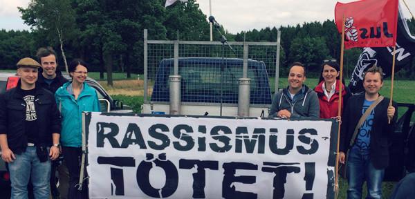 Foto von einer Demo gegen Rechts in Eschede