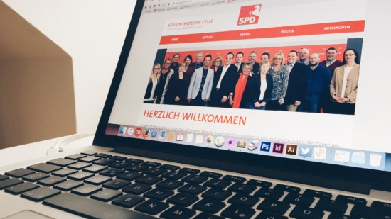Foto von der neuen Website