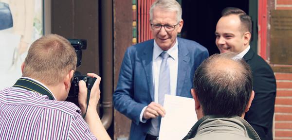 Foto von einem Pressetermin in Celle