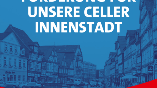 Sharepic: Förderung für Celler Innenstadt
